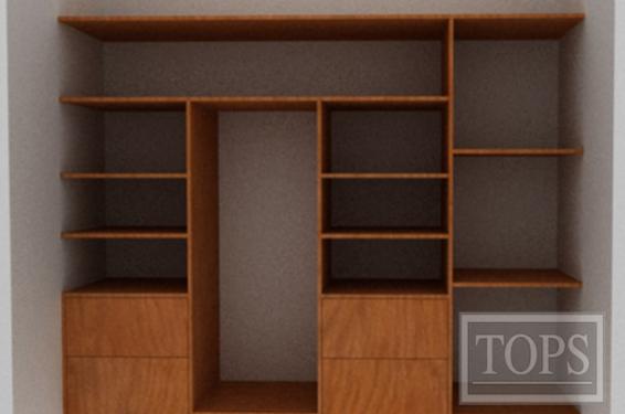 Closets de madera y melamina tops s a nicaragua for Modelos closets para dormitorios
